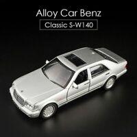 Mercedes Benz S Diecast Car Model W140 1:32 Alloy Model Car Sound Light Toy Car