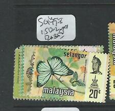 MALAYA SELANGOR (P0908B) BUTTERFLY SG 147-8, 150-2 MNH