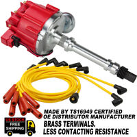 Chevy HEI Distributor Ignition 305 350 454 Small/Big Block +Spark Plug Wires Set