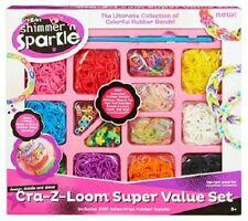 Shimmer 'n' Sparkle Cra-z Loom Value Pack Bands New