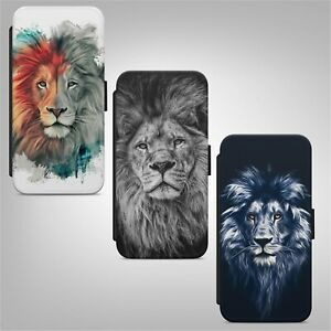 Lion Art Animal FLIP WALLET PHONE CASE COVER FOR IPHONE SAMSUNG HUAWEI
