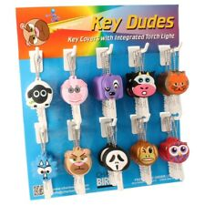 Funky Dudes Key Covers with Integrated Torch Light Key Caps With Strong Ring