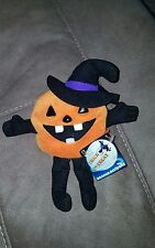 Beanie Boppers Stuffed Plush PERRY PUMPKIN NWT 1997 24k company RARE HALLOWEEN