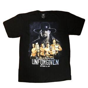Unforgiven Championship 2007 Undertaker, John Cena WWE Wrestling T-Shirt Size L