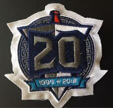 """TENNESSEE TITANS 20TH ANNIVERSARY PATCH SUPER BOWL? 4"""" JERSEY STYLE SHIPS NOW!!"""