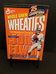 1993 John Elway Denver Broncos Wheaties Box Commemorative Edition 75th Anniv