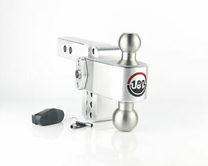 """180 degree Turnover Ball 10"""" Drop Hitch w/ 3"""" Shank Includes Chrome-Plated st..."""