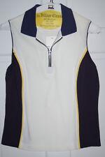 Tail Ladies Knit Top White Navy Sleeveless Golf Tennis
