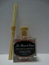 """Diffuseur ambiance  """" Violette """" + 5 tiges - Les fleuris de Grasse"""