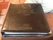 Futera Platinum Complete Leather Binder Manchester United European Champs  1999
