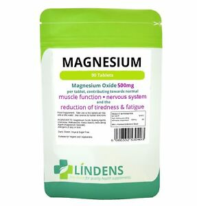 Magnesium MgO 500mg Tablets (90 pack) Lindens