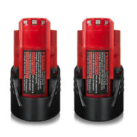 2x for Milwaukee M12 48-11-2420 48-11-2411 Lithium-Ion Compact Battery 2000mAh