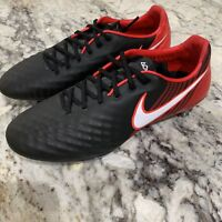Nike Mens Magista Opus II SG ACC Soccer Cleats Black Red SZ 8 852699-062