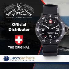 CX Swiss Military HUMVEE Infantry Watch Swiss Quartz Black Strap Black Dial 2895