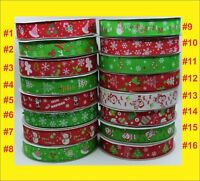 25mm Grosgrain Ribbon for Christmas gift wrapping Card Making Craft Hair Clip