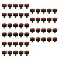 50 Pieces/Pack 12mm Billiards Screw-On Replacement Repair Pool Cue Tips