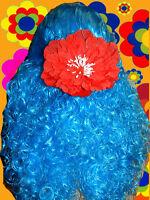 A76✪ 70er Jahre Häkel Regenbogen Zickzack Kopftuch Tuch Hippie Blumenkinder
