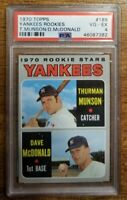 1970 Topps PSA 4 VG-EX New York Yankees Great Thurman Munson  RC #189