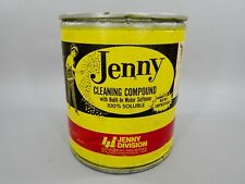 1970s Vintage French Maid Jenny Division Car Wash Cleaning Compound Soap Can