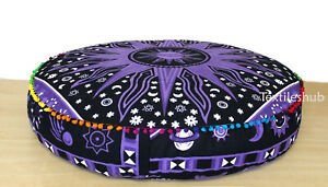 Purple Burning Sun 100% Cotton Cushion Dog Bed Pet Bed Pouf Pouffe Seating Cover