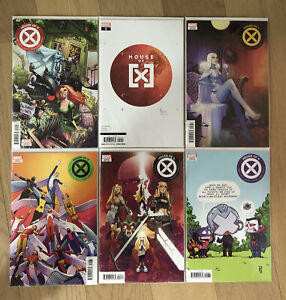 HOUSE OF X 1-6 FULL SET, MIXED VARIANTS, PRINT RUNS - X-MEN MARVEL COMICS MODERN