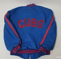Cubs Chicago Vintage 80's Jacket - Kids Size 7 Pyramid Outerwear - Baseball MLB