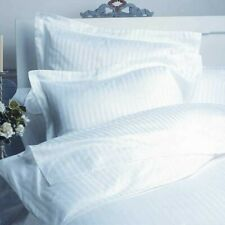 White Striped King 4 Piece Bed Sheet Set 1000 Thread Count 100% Egyptian Cotton