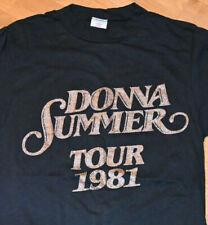 *1981 Donna Summer* vtg rare concert tour tee t-shirt (S) Small 70's 80's Disco