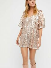 New Free people Sequin T shirt Mini Dress size Small MSRP: $128