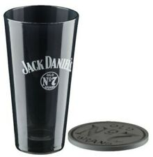 Jack Daniels Old No. 7 Tall Glass Mixing Glass Gift Set Whiskey Bar Glass Black