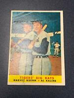 1958 Topps #304 HARVEY KUENN AL KALINE Detroit Tigers (Fair) (AY11)