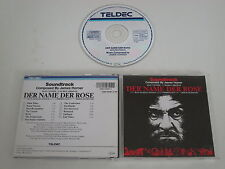 JAMES HORNER/DER NAME DER ROSE SOUNDTRACK(TELDEC 2292-44391-2) CD ALBUM