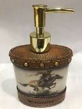 Winchester Horse and Rider Lotion Dispenser New Soap Browns Rockin W Brand