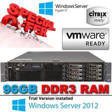 Dell Poweredge R710 2x 2.80GHz X5660 Six Core 96GB DDR3 8x300GB 10K DISKS & RAIL