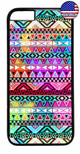 Aztec Colorful Neon Maya Geometric Case Cover iPhone Xs Max XR X 8 7 6 Plus 5 4