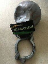 Jumbo Ball And Chain Fancy Dress. Ball Has A Dent. New In Packaging. Lightweight
