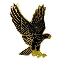 Eagle Lapel Pin Yellow Black Gold Tone Enamel Marco Military Cap Hat Vintage
