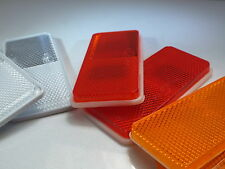 2 x Self-Adhesive Rectangular Reflectors (Amber, Clear or Red) Truck, Bus, Lorry