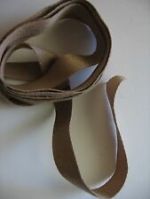 "Hand dyed cotton/polyester twill tape, 9/16"", 3 yards,  SHADES OF TAUPE color"