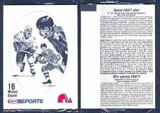 1986-87 Kraft Quebec Nordiques Team Set in Cello Packs 10