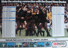 Enzed Fluid Connectors New Zealand Rugby Poster *Rare*