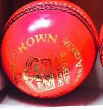 Pink Cricket Ball - Leather Entirely Hand Stitched, 5.5oz For 50 Overs