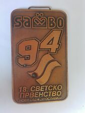 1994 Fias Sambo Xviii World championships Yugoslavia Serbia sport medal medaille