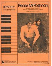 "THE CARPENTERS ""PLEASE MR. POSTMAN"" SHEET MUSIC-EASY PIANO-BRADLEY-1975-RARE-NEW"