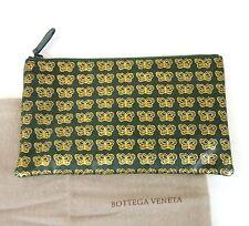 New Authentic BOTTEGA VENETA Leather Clutch Pouch Bag w/Butterfly, 302292 3062