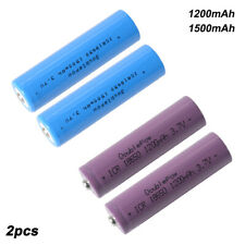 2pcs 3.7V 1200/1500mAh 18650 Rechargeable Li-ion Battery for Electric Toys Tools