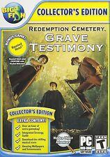 Redemption Cemetery:Grave Testimony + Bonus Game:Haunted Hotel 1 PC DVD-ROM Game