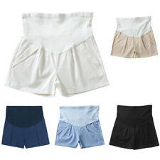 Maternity Denim Short Cotton Lounge Over Bump Pregnancy Shorts Summer Linen New