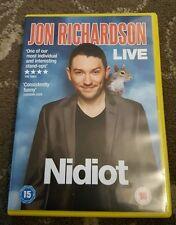 JON RICHARDSON NIDIOT DVD COMEDY STAND UP