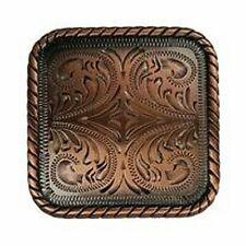Western Equestrian Cowboy Tack (Set 6) Sq. Black Copper Concho's